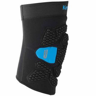 1 Kempa Knieschoner Knieprotektor Knieschützer KGuard schwarz/blau XS/S  ( Knieumpfang 30-36 cm )