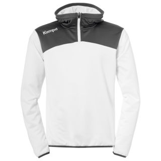 Kempa Zip Hoody Emotion 2.0 weiß/anthra L