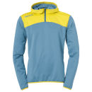Kempa Zip Hoody Emotion 2.0 dove blau/limonengelb 140