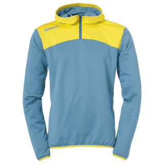 Kempa Zip Hoody Emotion 2.0 dove blau/limonengelb 152