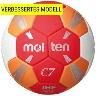 Molten Handball C7 rot/orange/weiß/silber IHF Siegel